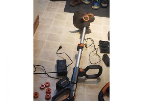 Electric trimmer and blower