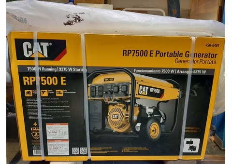 Cat RP7500 E  in box elec start generator