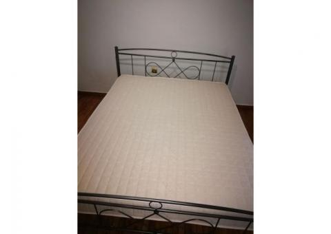 Steel bed frame and Art Strom mattress